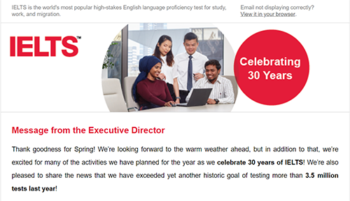 IELTS USA Stakeholder E-Newsletter